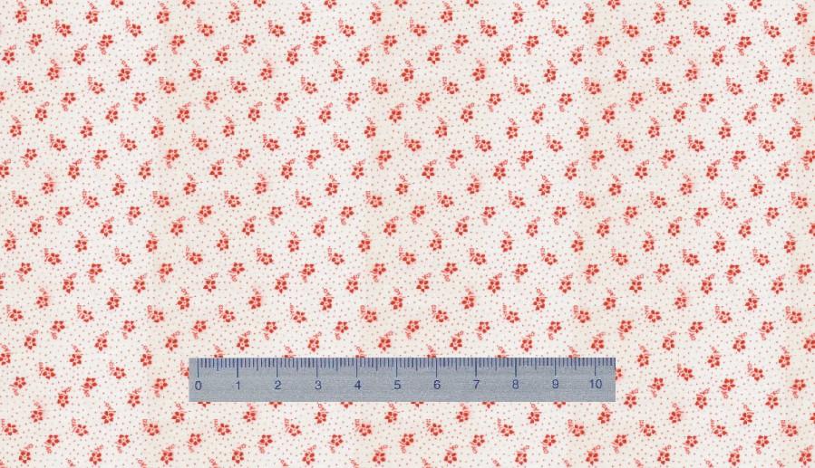 Papier Peint Petites Fleurs #8: Petites Fleurs Rouges Sur Fond Blanc